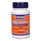Now, Melatonin 3 mg, 60 таблеток