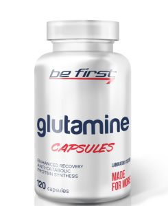 Be First, Glutamine, 120 капсул, 120 порций