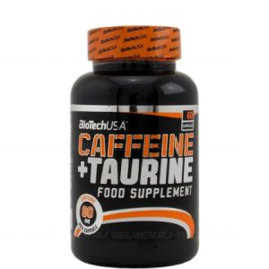 Biotech, Caffeine & Taurine Power Force, 60 капсул, США, 30 порций