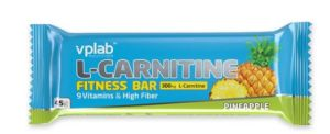 VPLab, L-Carnitine Bar (Л-Карнитин Бар), 45 г,, Ананас