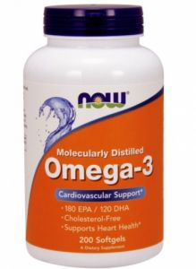 Now, Omega- 3, 200 гел капсул, 1000 мг