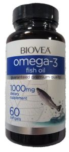 Biovea, Omega-3 Fish Oil, 60 капсул, 60 капсул