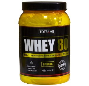 TotalLab, Whey 80, 900 г, Россия, Клубника