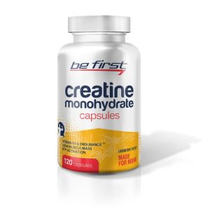 Be First, Creatine Monohydrate Capsules, 120 капсул, 30 порций