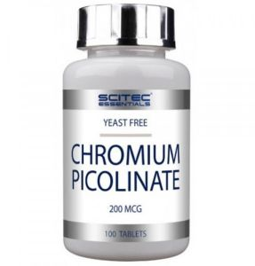 Scitec Nutrition, Chromium Picolinate, 100 таблеток, 100 порций