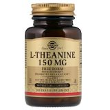 Solgar, L-Theanine, 150 mg, 60 вег. капсул