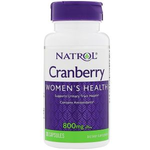 Natrol, Cranberry, 800 мг, 30 капсул, 30 капсул